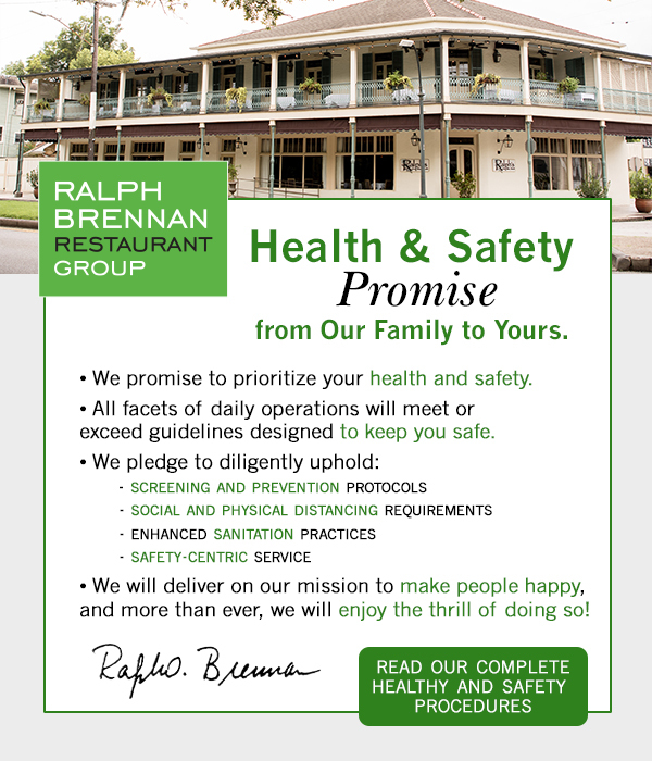 Health and Safety Promise.  Click to read complete update.