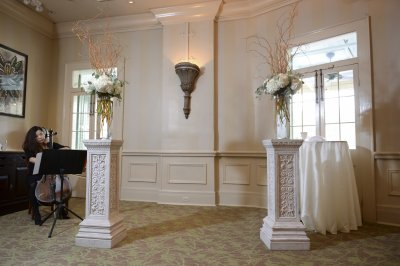 Wedding Ceremony Setup in Magnolia Room