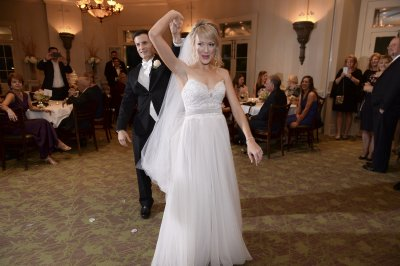 Bride Throws Garter