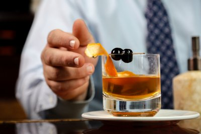 Oak Fashioned Cocktail Garnish