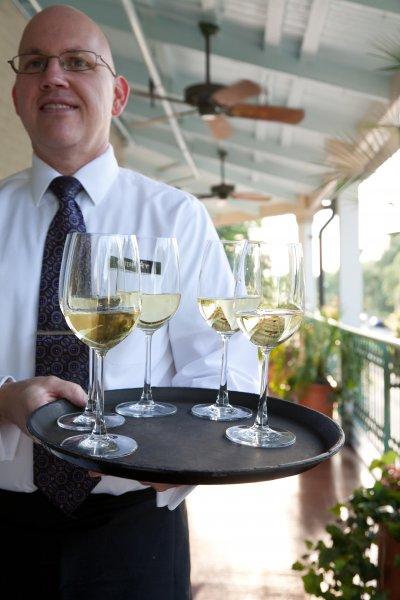 Server with Passed Wine