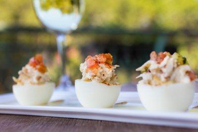Crabmeat Deviled Eggs
