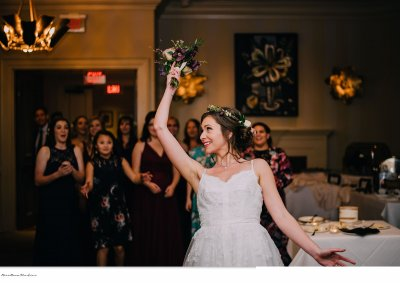 Bouquet toss fun!
