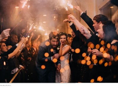 Bride & Groom's sparkler exit