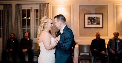 Bride & Groom's first dance in the Oak Room
