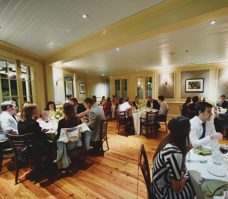 picture of Main Dining room which can be reserved for private parties